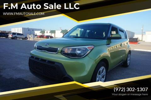 2015 Kia Soul for sale at F.M Auto Sale LLC in Dallas TX