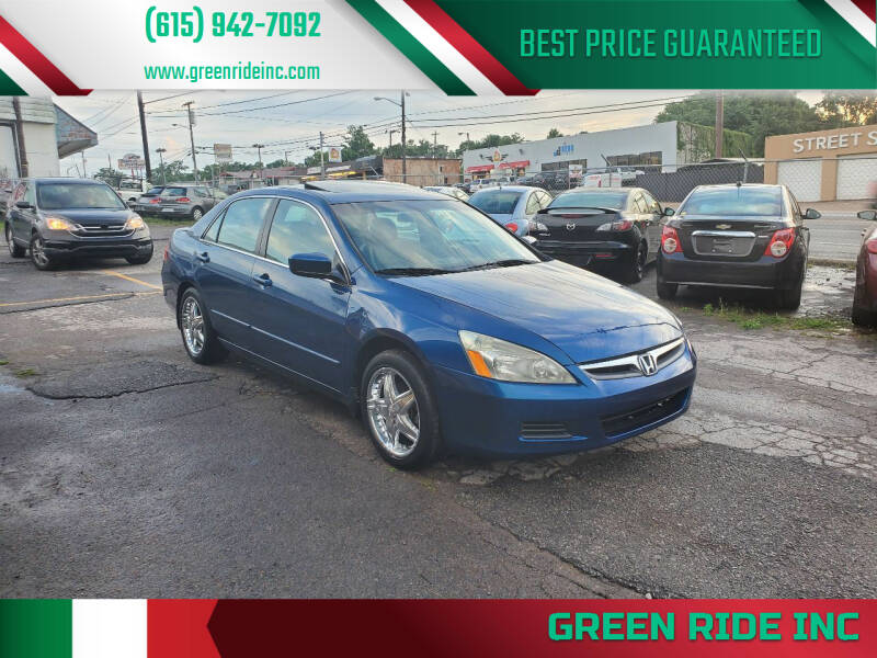 2006 Honda Accord for sale at Green Ride Inc in Nashville TN
