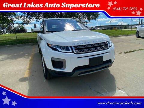 2017 Land Rover Range Rover Evoque for sale at Great Lakes Auto Superstore 2 in Waterford MI
