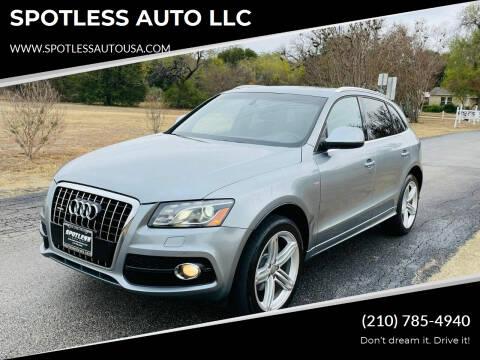 2011 Audi Q5 for sale at SPOTLESS AUTO LLC in San Antonio TX