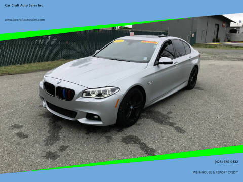 2014 BMW 5 Series for sale at Car Craft Auto Sales Inc in Lynnwood WA