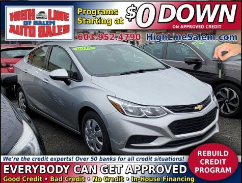 2018 Chevrolet Cruze for sale at High Line Auto Sales of Salem in Salem NH