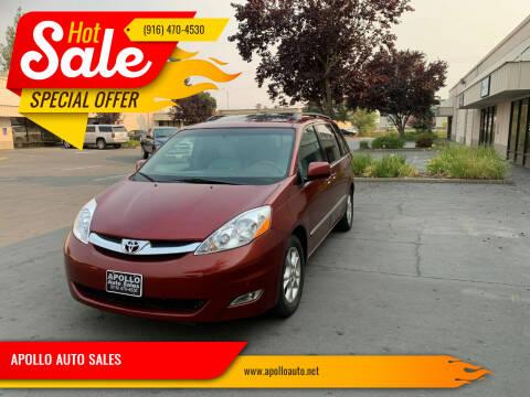 2006 Toyota Sienna for sale at APOLLO AUTO SALES in Sacramento CA