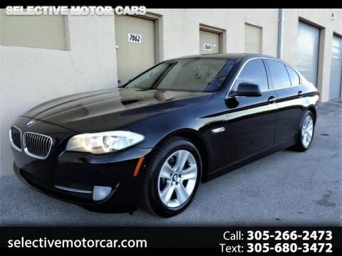 2013 BMW 5 Series for sale at Selective Motor Cars in Miami FL