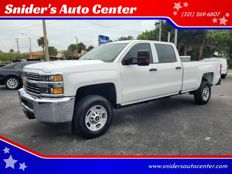2017 Chevrolet Silverado 2500HD for sale at Snider's Auto Center in Titusville FL