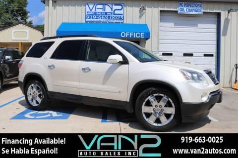 2010 GMC Acadia for sale at Van 2 Auto Sales Inc in Siler City NC