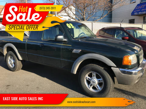 2003 Ford Ranger for sale at EAST SIDE AUTO SALES INC in Paterson NJ
