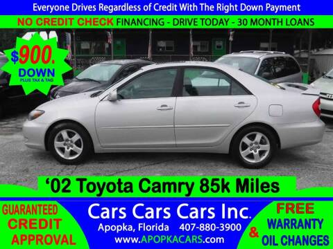 2002 Toyota Camry for sale at CARS CARS CARS INC in Apopka FL