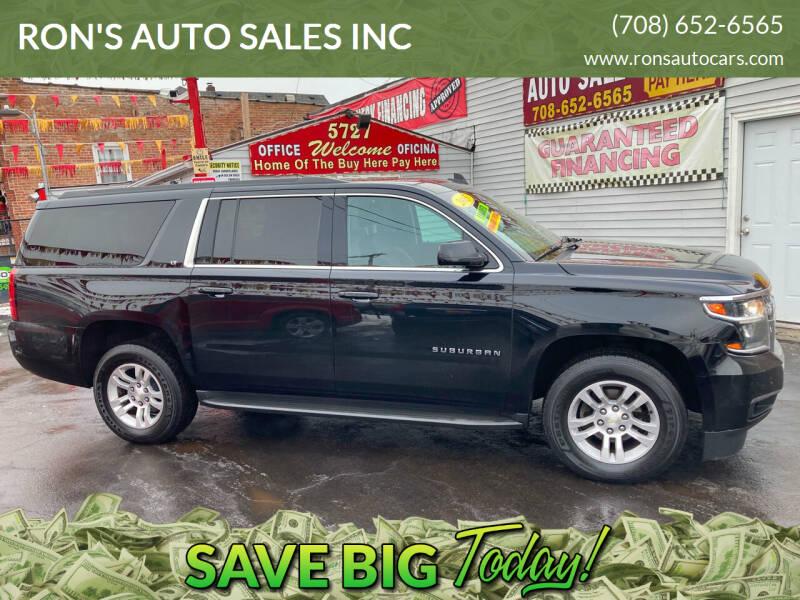 2015 Chevrolet Suburban for sale at RON'S AUTO SALES INC in Cicero IL