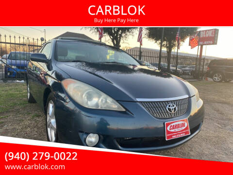 2006 Toyota Camry Solara for sale at CARBLOK in Lewisville TX