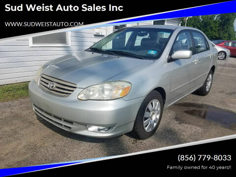 2004 Toyota Corolla for sale at Sud Weist Auto Sales Inc in Maple Shade NJ