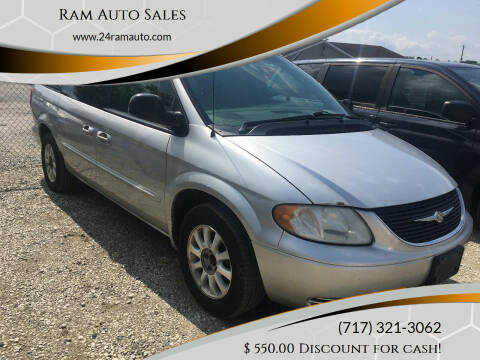 2002 Chrysler Town and Country for sale at Ram Auto Sales in Gettysburg PA