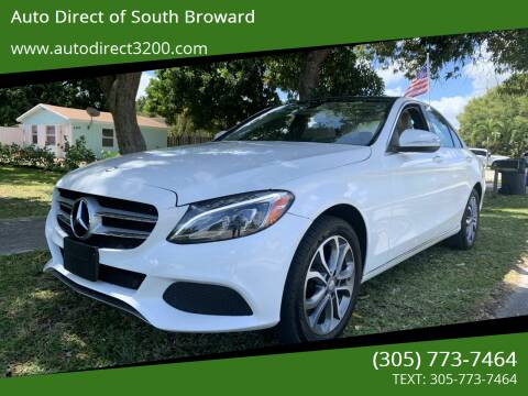 2015 Mercedes-Benz C-Class for sale at Auto Direct of South Broward in Miramar FL