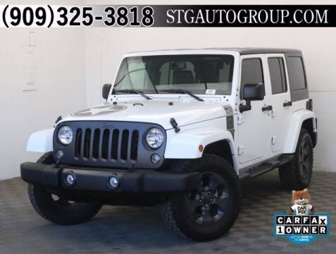 2017 Jeep Wrangler Unlimited for sale at STG Auto Group in Montclair CA