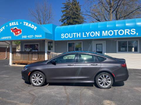2015 Chrysler 200 for sale at South Lyon Motors INC in South Lyon MI