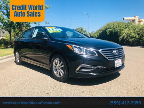 2015 Hyundai Sonata for sale at Credit World Auto Sales in Fresno CA