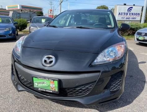 2012 Mazda MAZDA3 for sale at Auto Union LLC in Virginia Beach VA