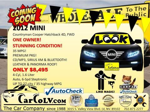 2012 MINI Cooper Countryman for sale at The Car Company in Las Vegas NV