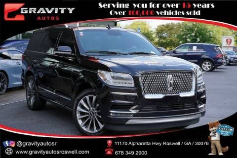 2018 Lincoln Navigator for sale at Gravity Autos Roswell in Roswell GA