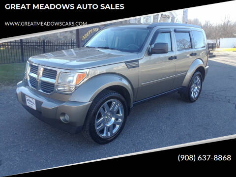 2007 Dodge Nitro for sale at GREAT MEADOWS AUTO SALES in Great Meadows NJ