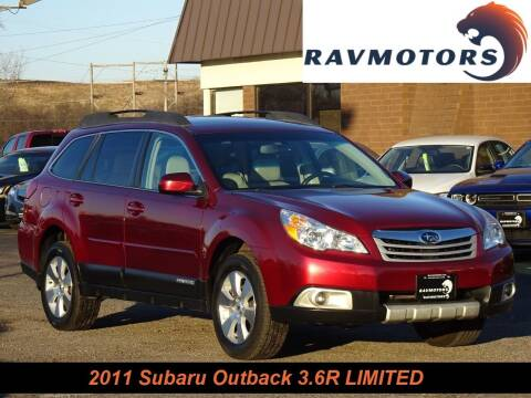 2011 Subaru Outback for sale at RAVMOTORS in Burnsville MN