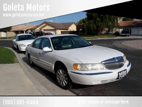 2000 Lincoln Continental for sale at Goleta Motors in Goleta CA