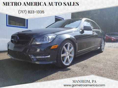 2012 Mercedes-Benz C-Class for sale at METRO AMERICA AUTO SALES of Manheim in Manheim PA