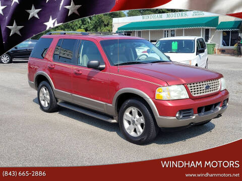 2003 Ford Explorer for sale at Windham Motors in Florence SC
