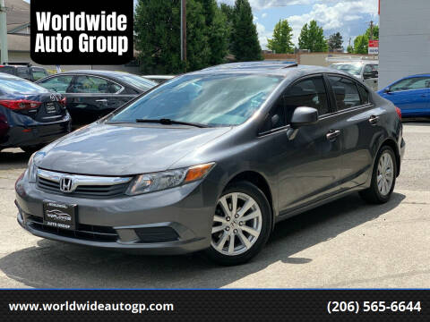 2012 Honda Civic for sale at Worldwide Auto Group in Auburn WA
