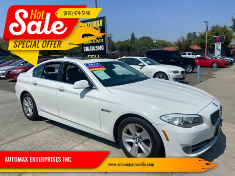 2013 BMW 5 Series for sale at AUTOMAX ENTERPRISES INC. in Roseville CA