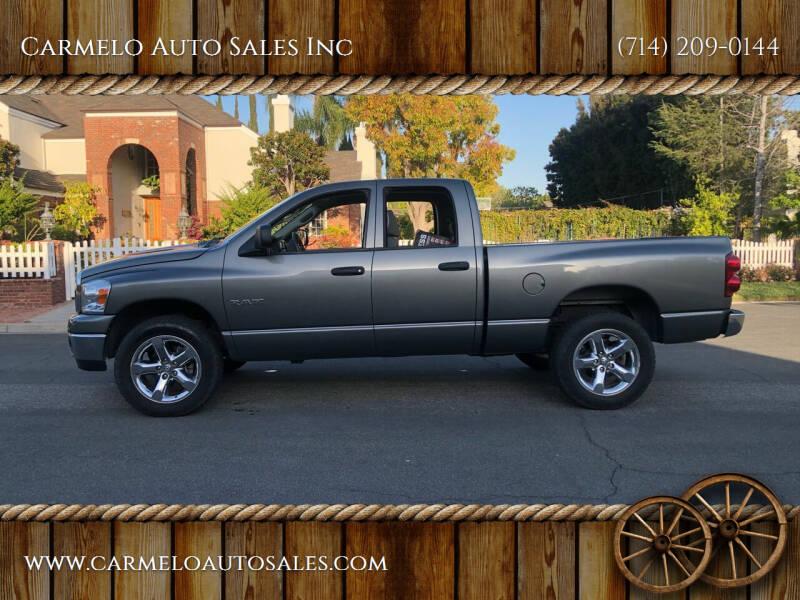 2008 Dodge Ram Pickup 1500 for sale at Carmelo Auto Sales Inc in Orange CA
