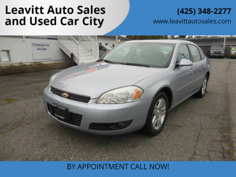 2006 Chevrolet Impala for sale at Leavitt Auto Sales and Used Car City in Everett WA