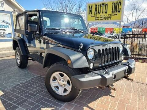 2014 Jeep Wrangler for sale at M AUTO, INC in Millcreek UT