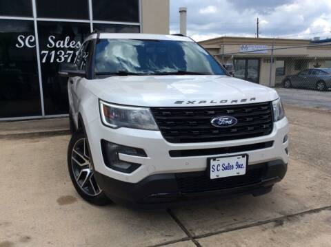2017 Ford Explorer for sale at SC SALES INC in Houston TX