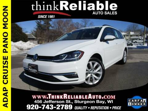 2019 Volkswagen Golf SportWagen for sale at RELIABLE AUTOMOBILE SALES, INC in Sturgeon Bay WI