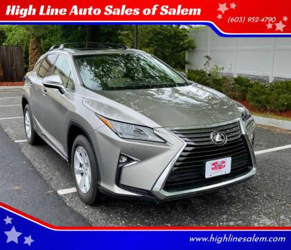 2017 Lexus RX 350 for sale at High Line Auto Sales of Salem in Salem NH