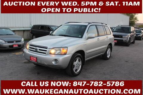2005 Toyota Highlander for sale at Waukegan Auto Auction in Waukegan IL