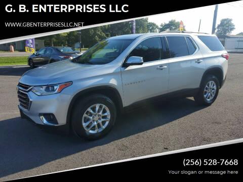 2020 Chevrolet Traverse for sale at G. B. ENTERPRISES LLC in Crossville AL