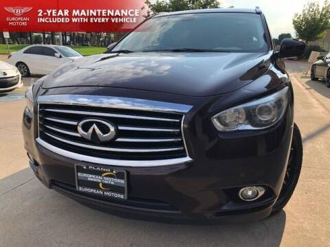 2015 Infiniti QX60 for sale at European Motors Inc in Plano TX