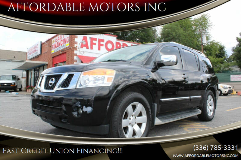 2012 Nissan Armada for sale at AFFORDABLE MOTORS INC in Winston Salem NC
