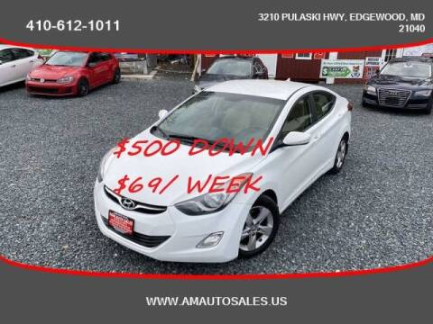 2013 Hyundai Elantra for sale at A&M Auto Sales in Edgewood MD