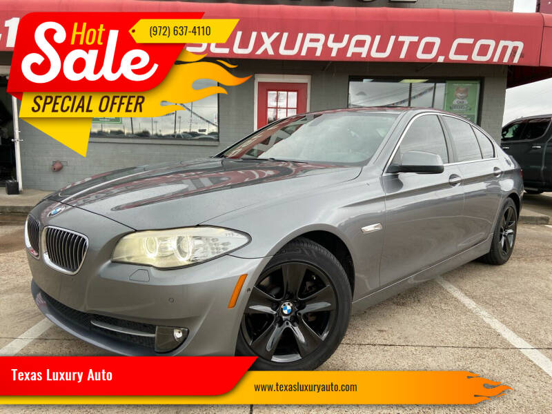 2013 BMW 5 Series for sale at Texas Luxury Auto in Cedar Hill TX