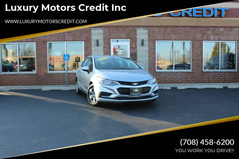 2018 Chevrolet Cruze for sale at Luxury Motors Credit Inc in Bridgeview IL