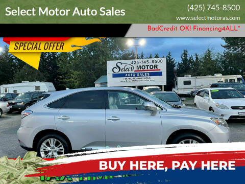 2010 Lexus RX 450h for sale at Select Motor Auto Sales in Lynnwood WA