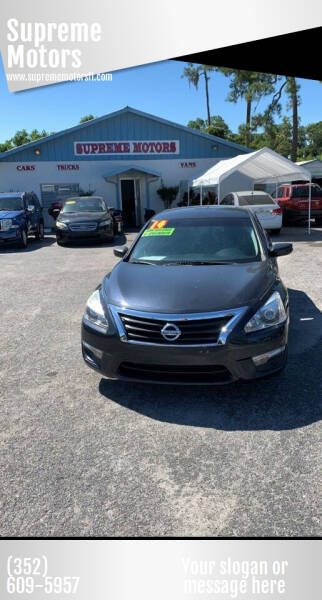 2014 Nissan Altima for sale at Supreme Motors in Tavares FL