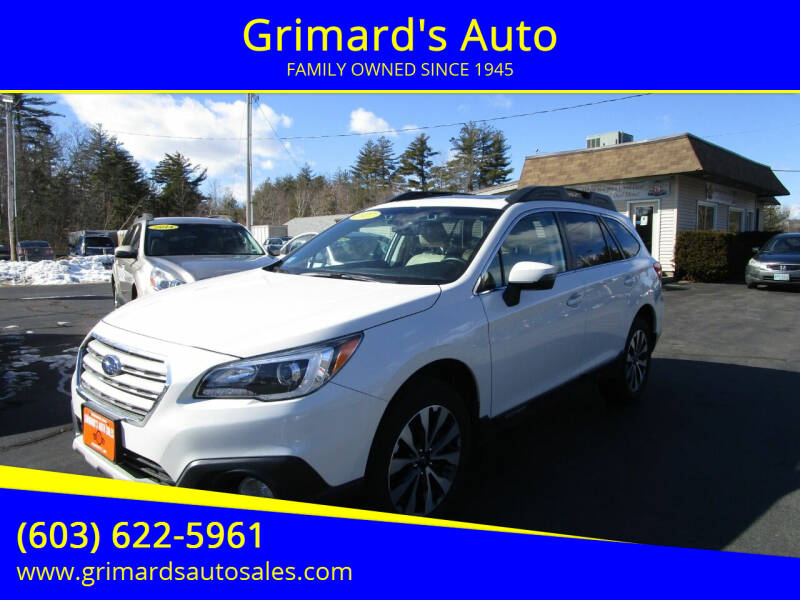 2017 Subaru Outback for sale at Grimard's Auto in Hooksett, NH