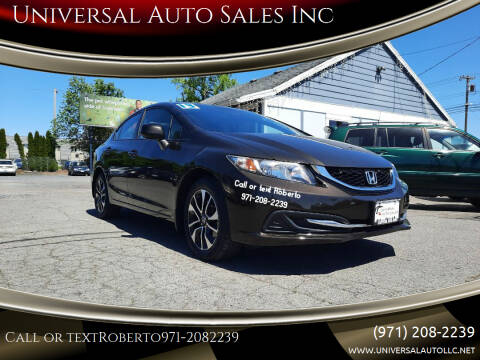 2013 Honda Civic for sale at Universal Auto Sales Inc in Salem OR