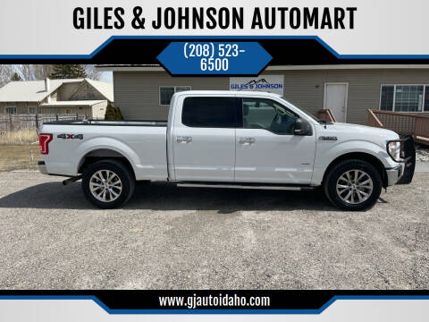 2015 Ford F-150 for sale at GILES & JOHNSON AUTOMART in Idaho Falls ID