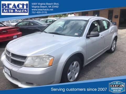 2010 Dodge Avenger for sale at Beach Auto Sales in Virginia Beach VA