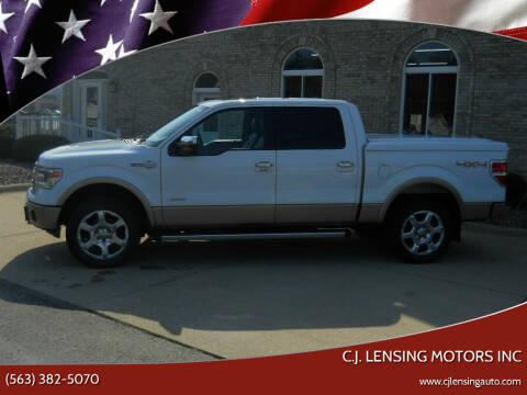 2013 Ford F-150 for sale at C.J. Lensing Motors Inc in Decorah IA